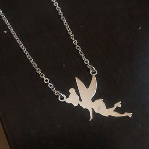Sterling silver Disney Tinkerbell necklace!